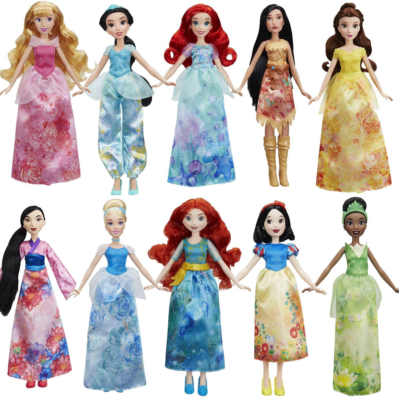 """Hasbro Disney Princess Royal Shimmer Watercolour 10"""" Dolls ..."""