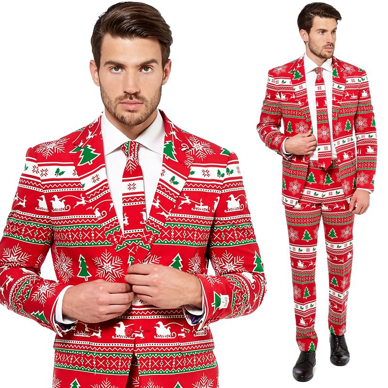 Opposuit Winter Wonderland Costume Christmas Fancy Dress Adult Mens Suit