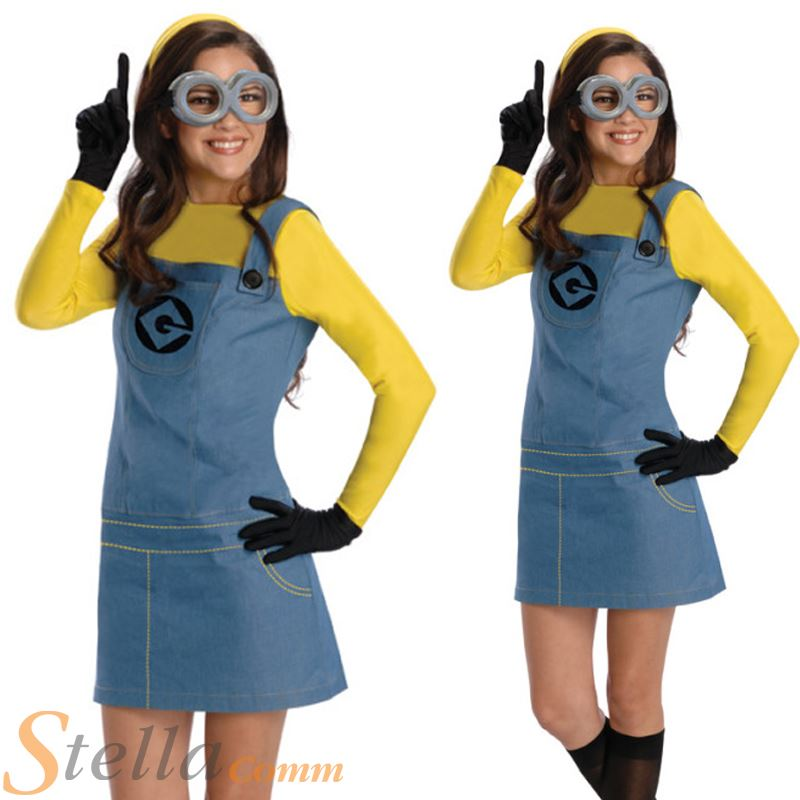 Official Ladies Adult Despicable Me Minion Fancy Dress Costume Outfit  sc 1 st  eBay & Official Ladies Adult Despicable Me Minion Fancy Dress Costume ...