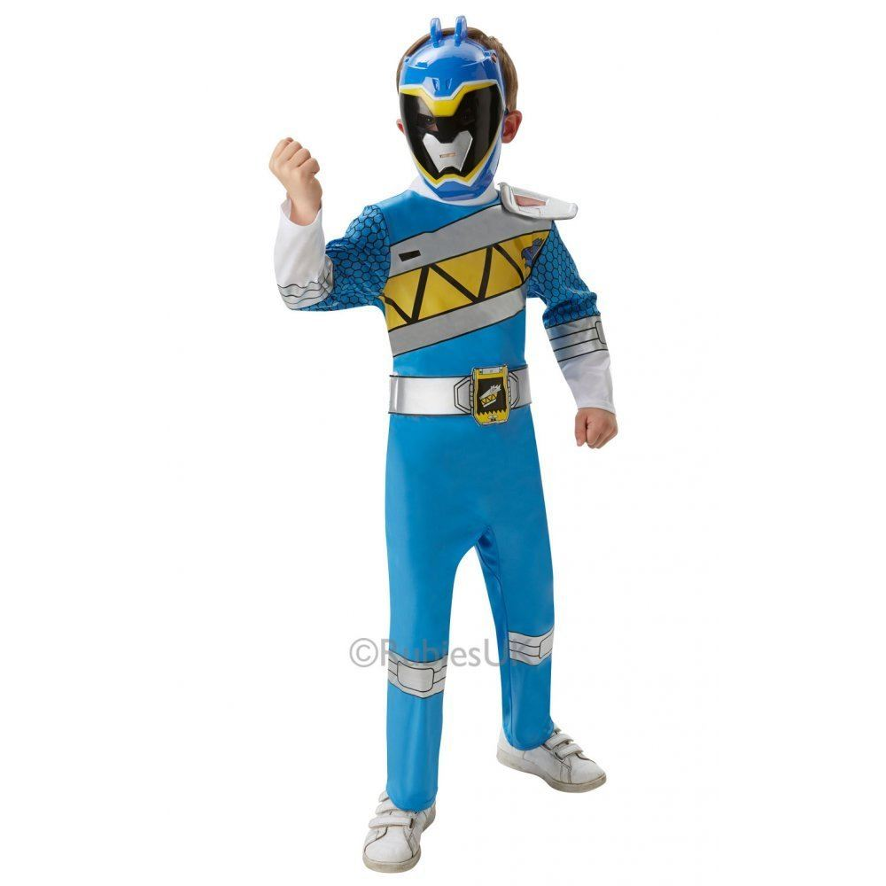 kids deluxe power rangers dino charge fancy dress costume boys girls child ebay. Black Bedroom Furniture Sets. Home Design Ideas