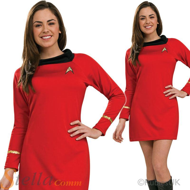 ladies deluxe uhura original star trek fancy dress costume adult outfit - Uhura Halloween Costume