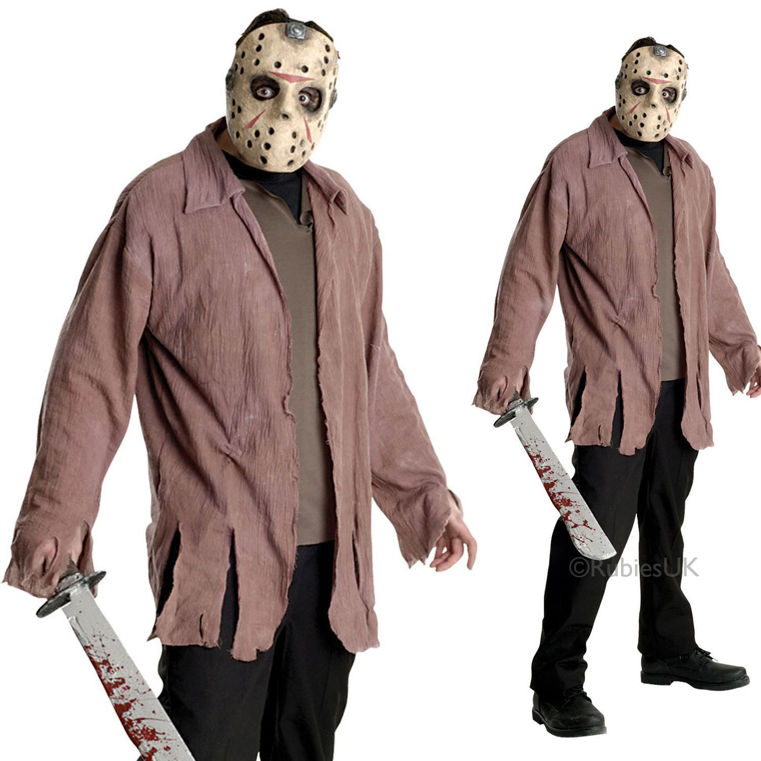 mens jason voorhees costume & mask friday 13th halloween adult fancy