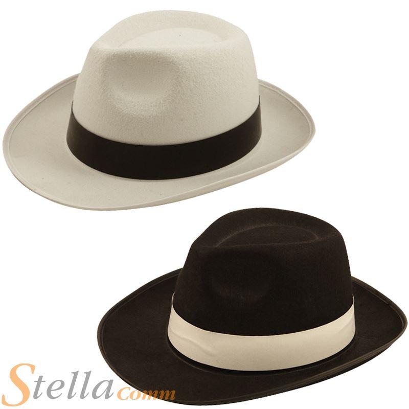 Details about Gangster Al Capone 20s Mobster Mafia Trilby Fedora Felt Fancy  Dress Costume Hat 2aa2e791a97