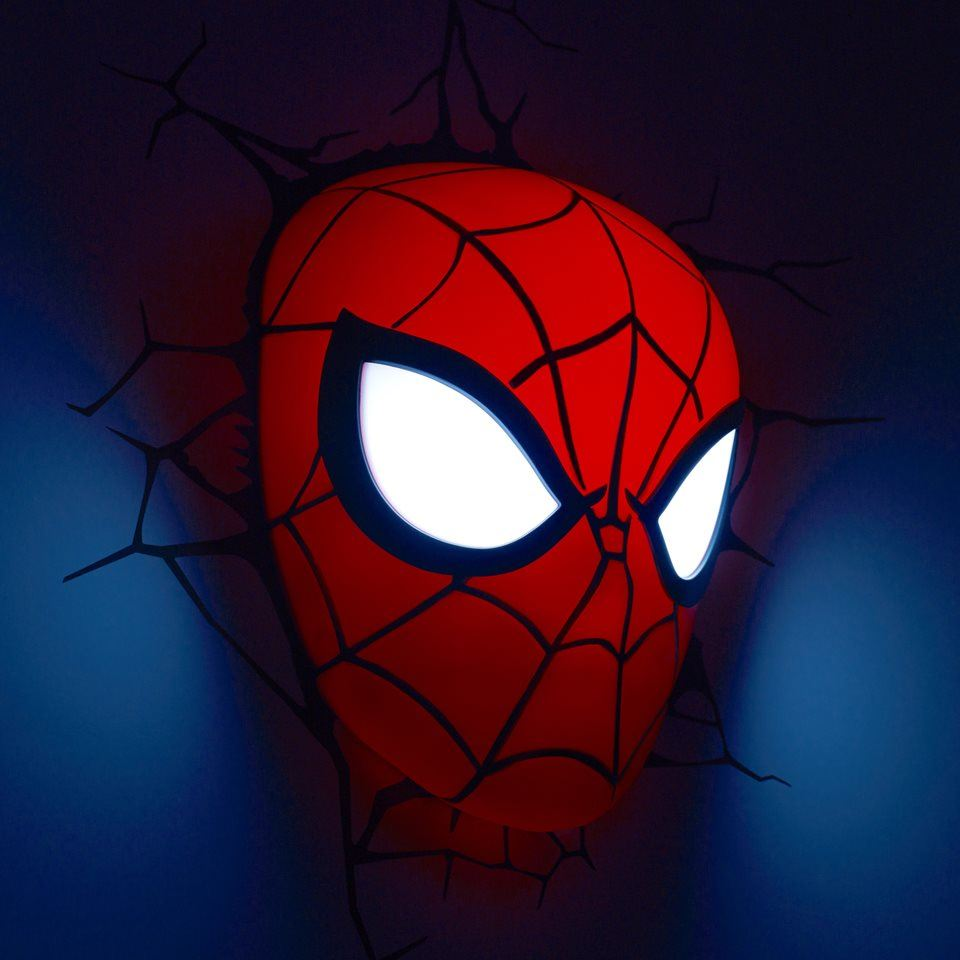 Licensed marvel 3d fx deco bedroom wall led childrens for Bedroom night light