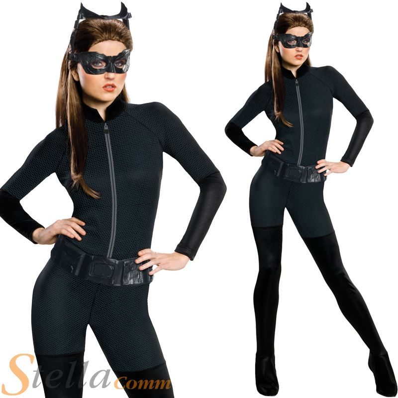 ladies catwoman fancy dress costume batman dark knight. Black Bedroom Furniture Sets. Home Design Ideas