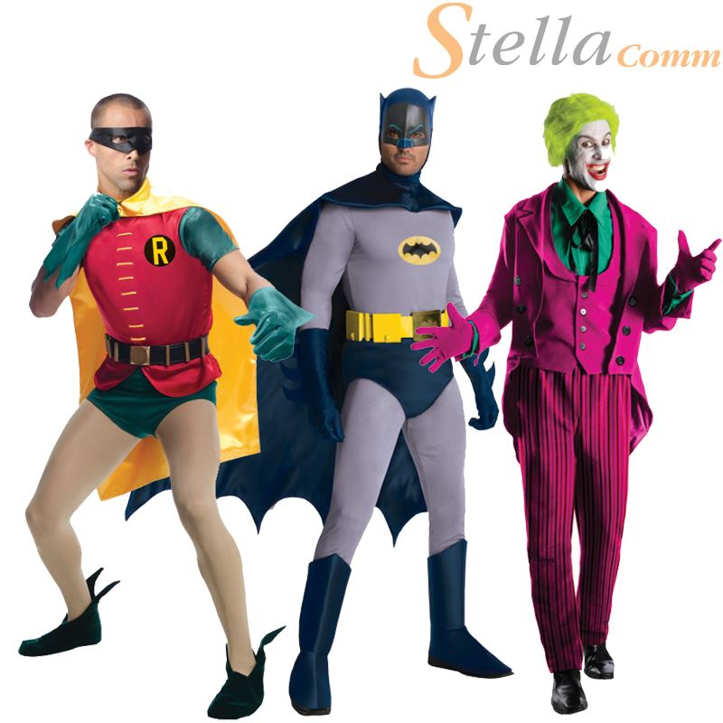 Mens Grand Heritage Batman Fancy Dress Superhero Character Adults Costume Outfit  sc 1 st  eBay & Mens Grand Heritage Batman Fancy Dress Superhero Character Adults ...