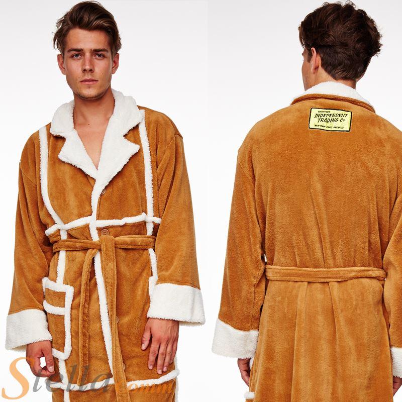 Adult Del Boy Only Fools Horses Sheep Skin Coat Fleece Bathrobe ...