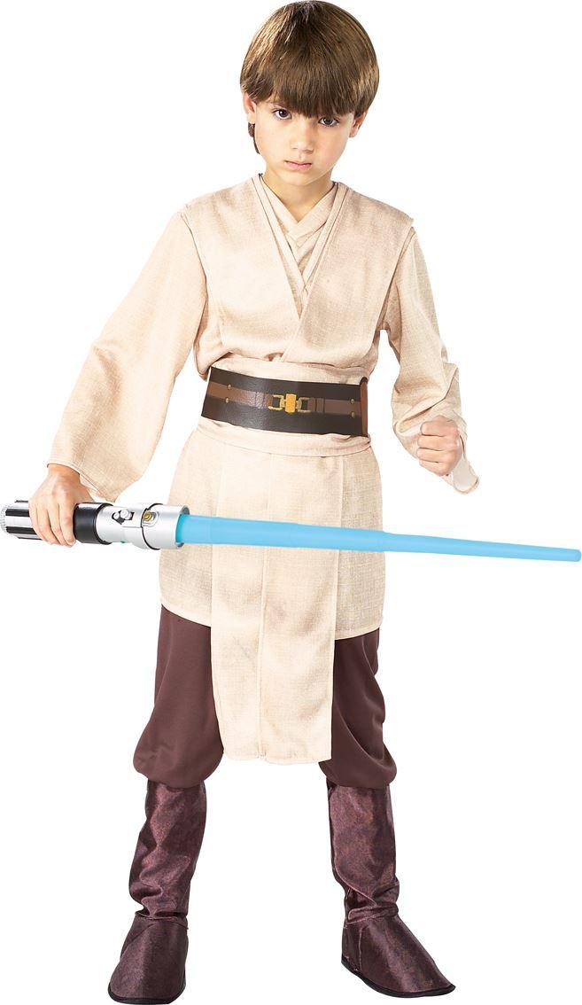 Garcons-Deluxe-Chevalier-Jedi-Skywalker-Star-Wars-Costume-Robe-Fantaisie-Enfant-Tenue