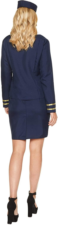 Womens-Flight-Attendant-Costumes-Air-Stewardess-Hostess-Fancy-Dress-Outfit thumbnail 8