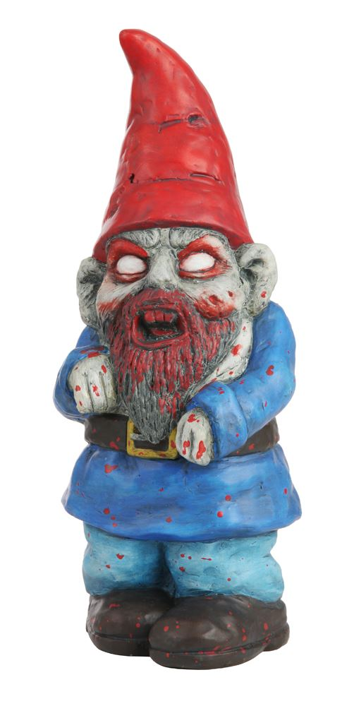 Zombie Garden Gnome Novelty Funny Evil Garden Ornament Hand Crafted  Terracotta