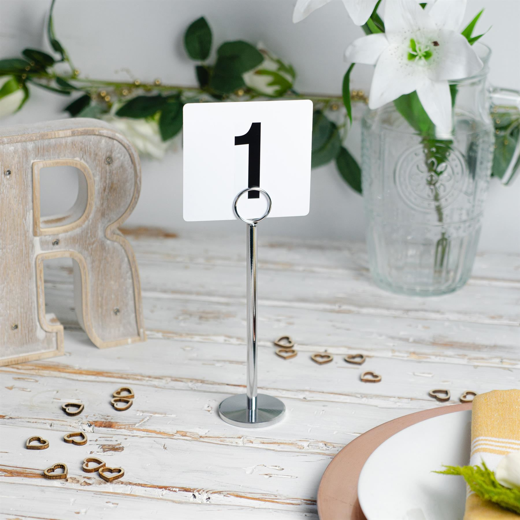 Wedding-Event-Party-Table-Number-Plastic-Place-Cards-Double-sided thumbnail 10