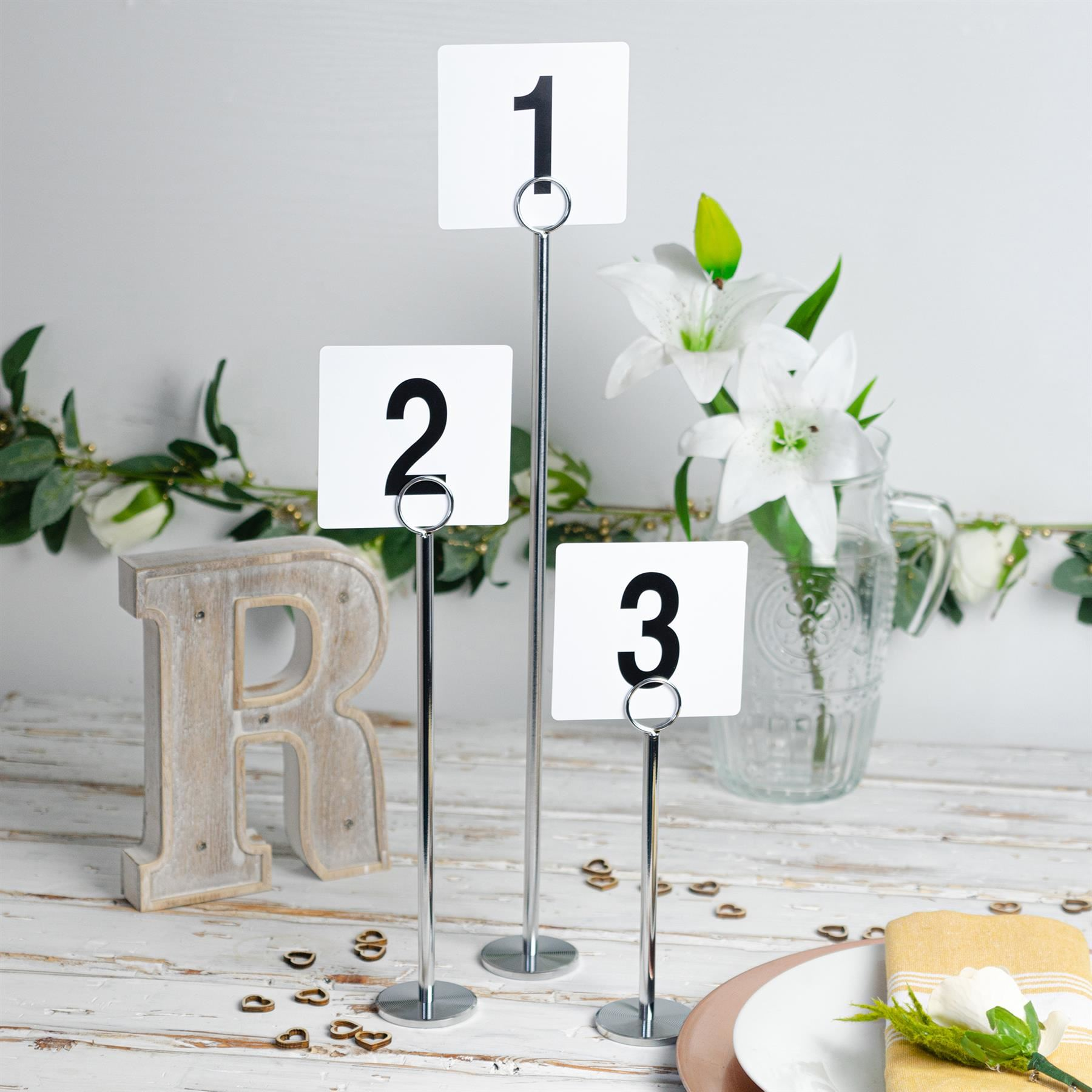 Wedding-Event-Party-Table-Number-Plastic-Place-Cards-Double-sided thumbnail 7