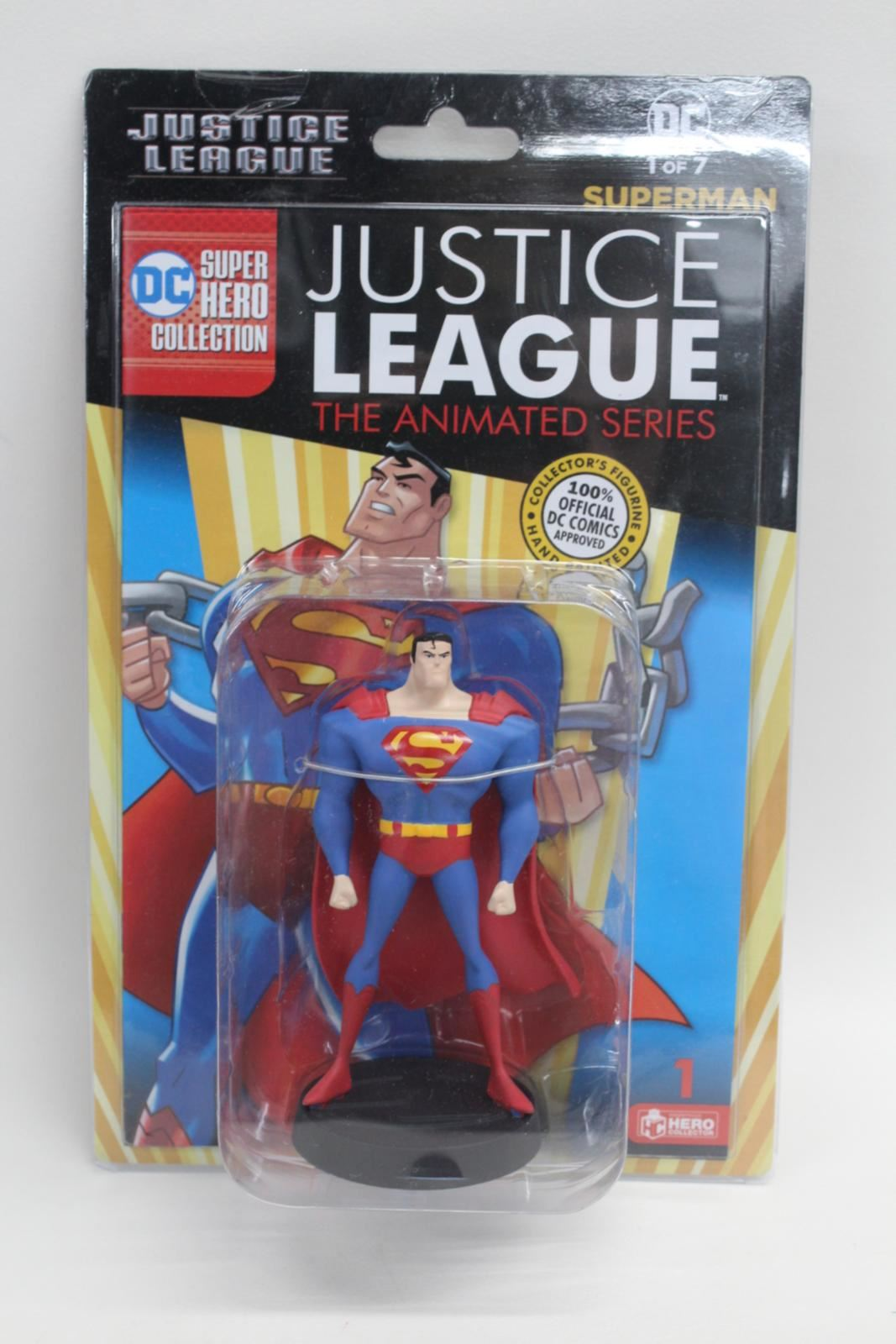 EAGLEMOSS-DC-Justice-League-Tas-Series-1-Superman-Statue-With-Mag-1-NEW