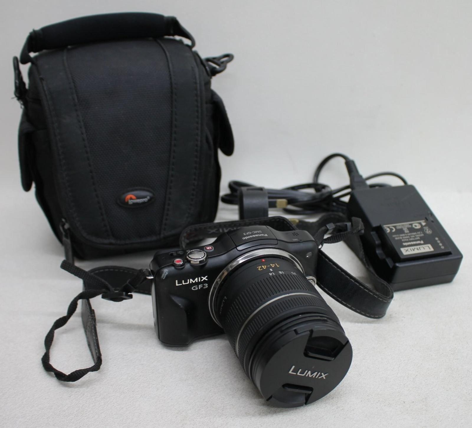 PANASONIC-Lumix-DMC-GF3-12-1MP-Compact-Camera-w-14-42mm-G-Vario-f-3-5-5-6-Lens
