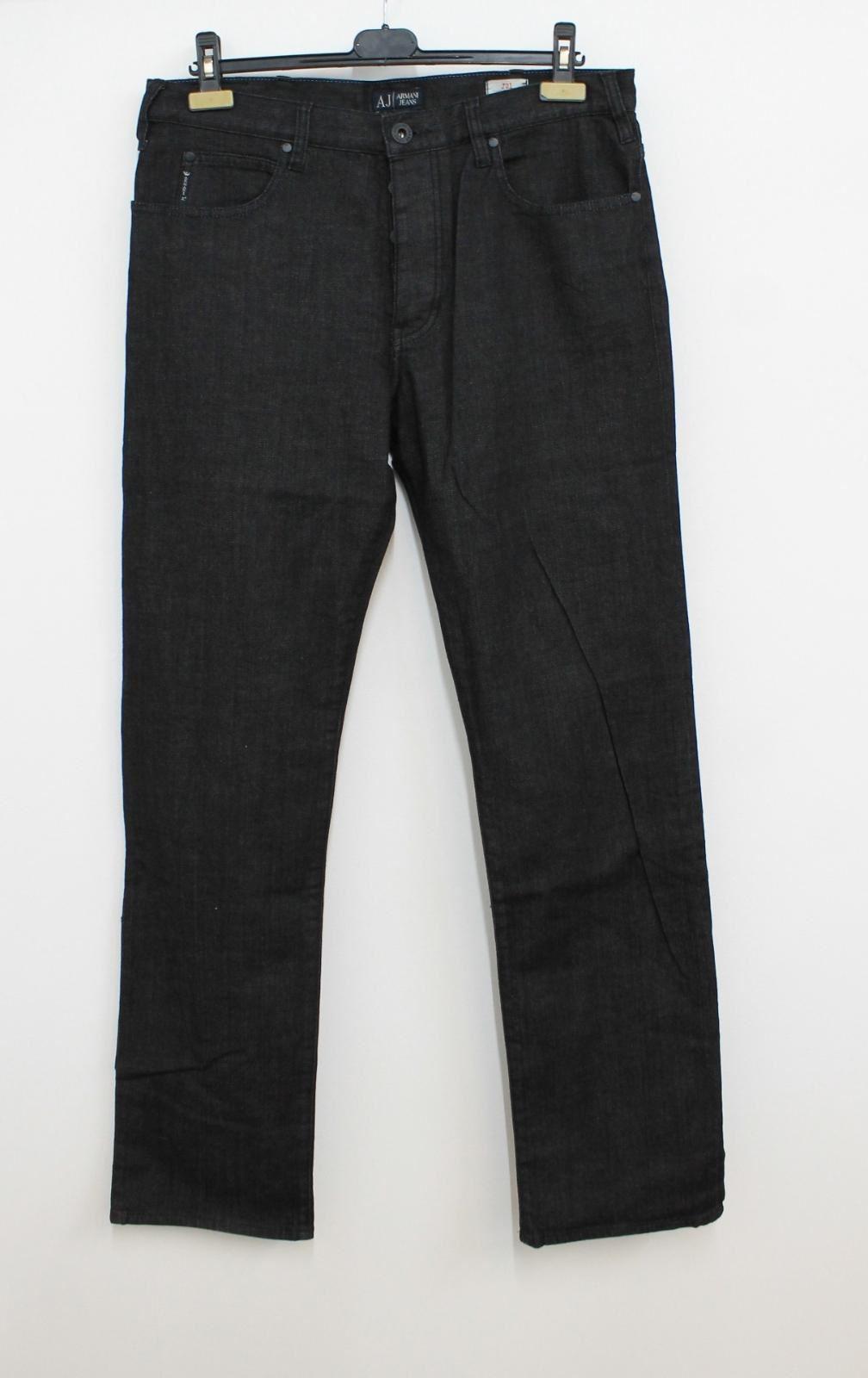 ARMANI-JEANS-Men-039-s-J21-Dark-Grey-Regular-Fit-Straight-Leg-Jeans-Size-W34-L33