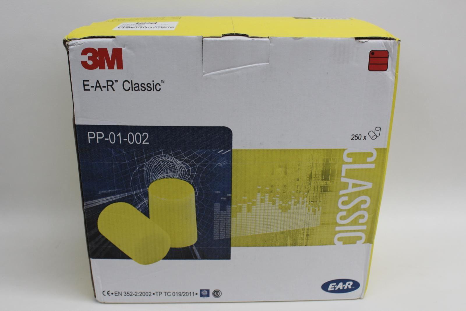 3 M Housse De Protection Industrielle Bouchons D'oreille Polymère En Mousse Jetables X250 Paire Neuf-afficher Le Titre D'origine