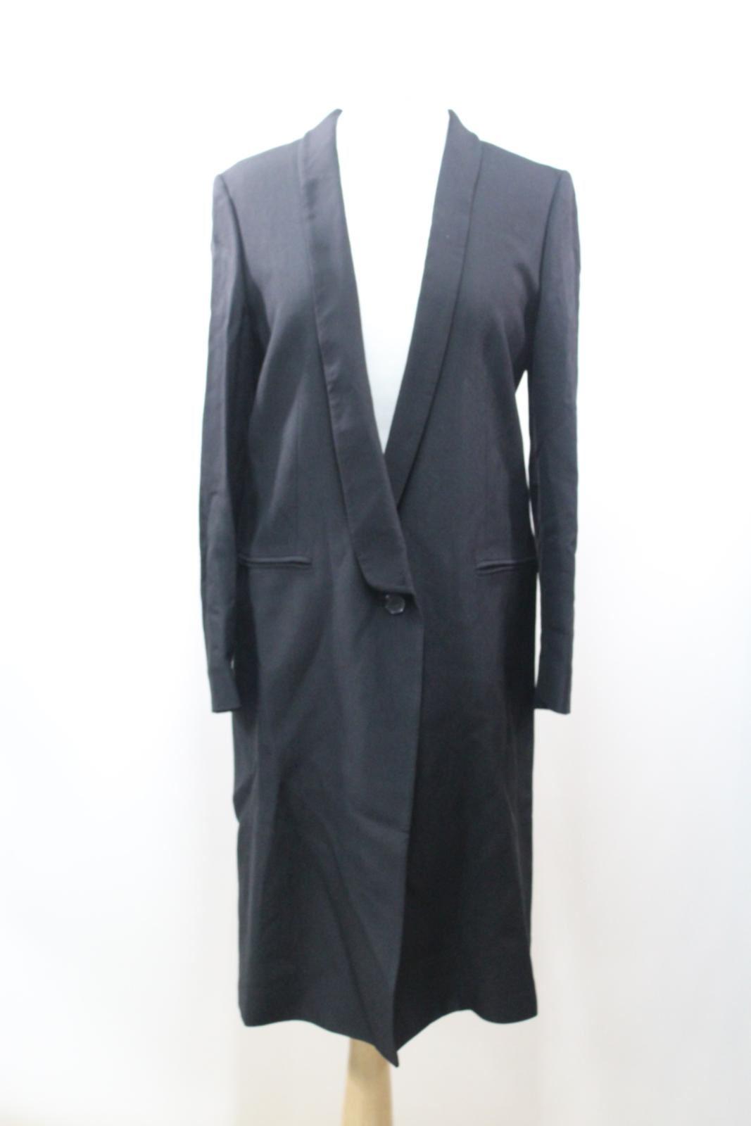 BNWT-JAEGER-Ladies-Black-Wool-Blend-Formal-Single-Breasted-One-Button-Coat-UK10