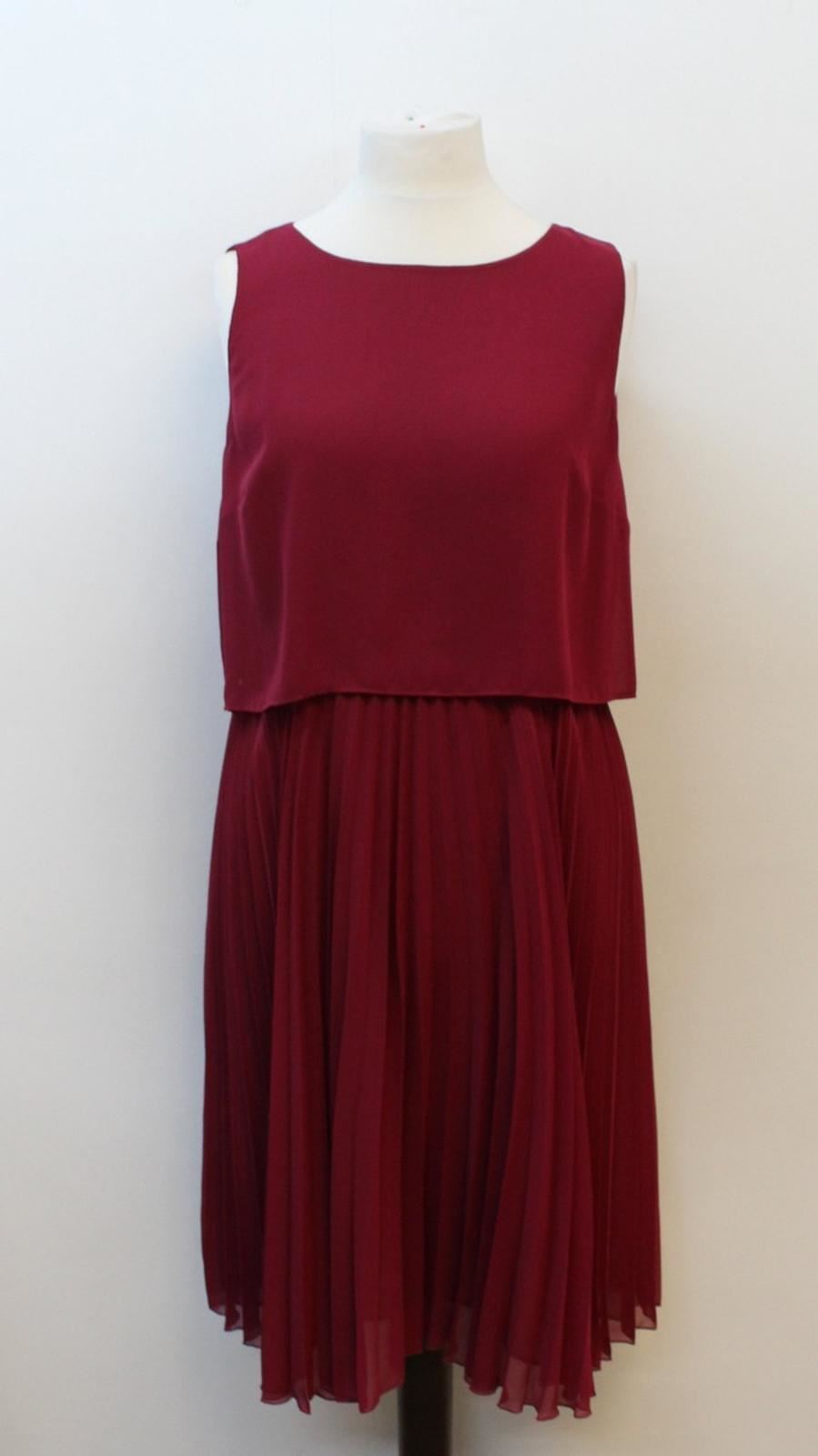 detailed pictures new products shopping HOBBS LADIES DARK Magenta Sleeveless Pleated Tabitha Dress UK18 ...
