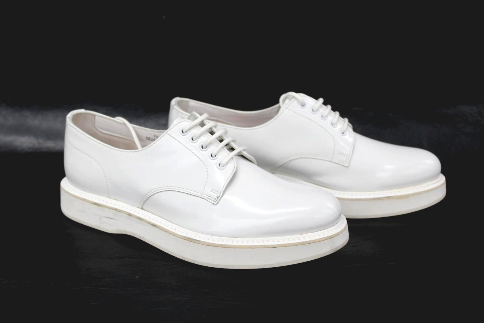 CHURCH-039-S-Felicia-Ladies-White-Leather-Lace-Up-Wedge-Derby-Shoes-UK3-EU35-5