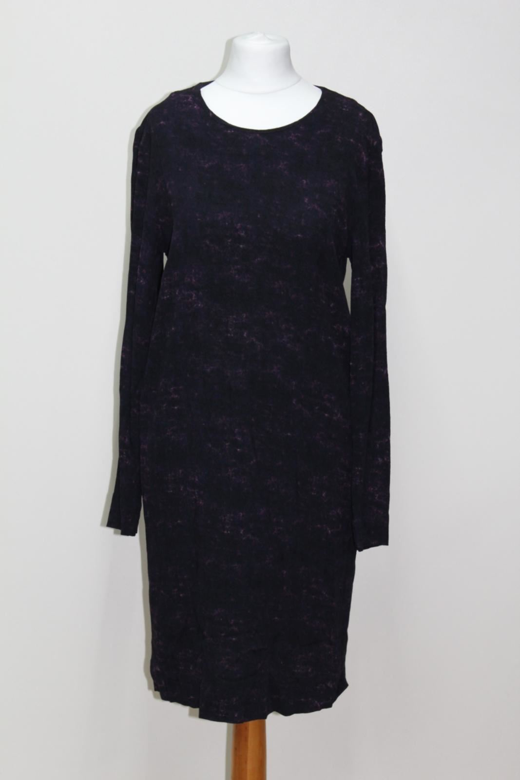 COS Ladies lila Distressed Long Sleeve Knee Length Zip Dress S UK10 EU36