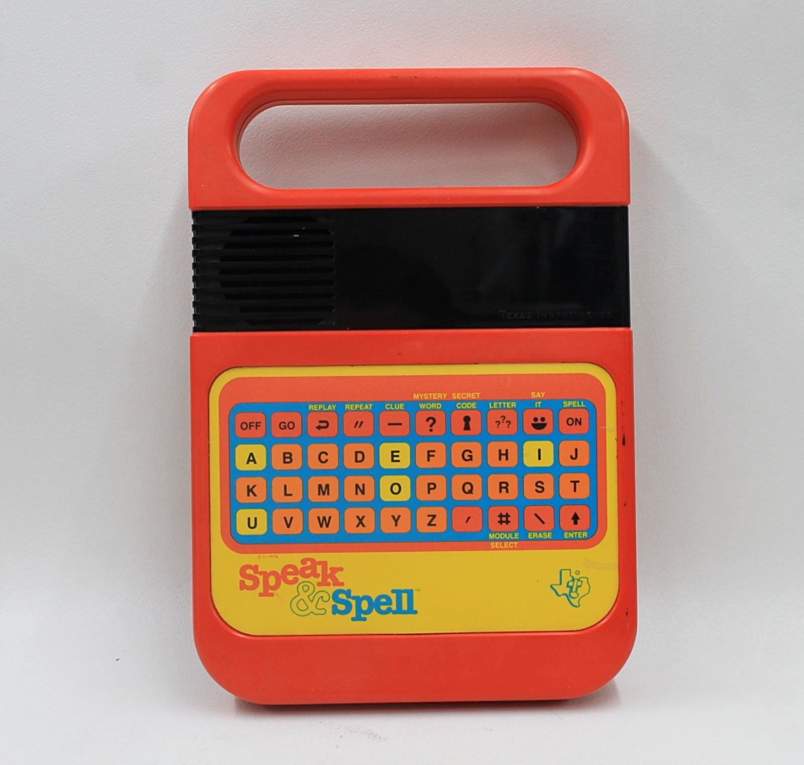 TEXAS-INSTRUMENTS-Speak-amp-Spell-Vintage-Electronic-Talking-Toy-Learning-Game