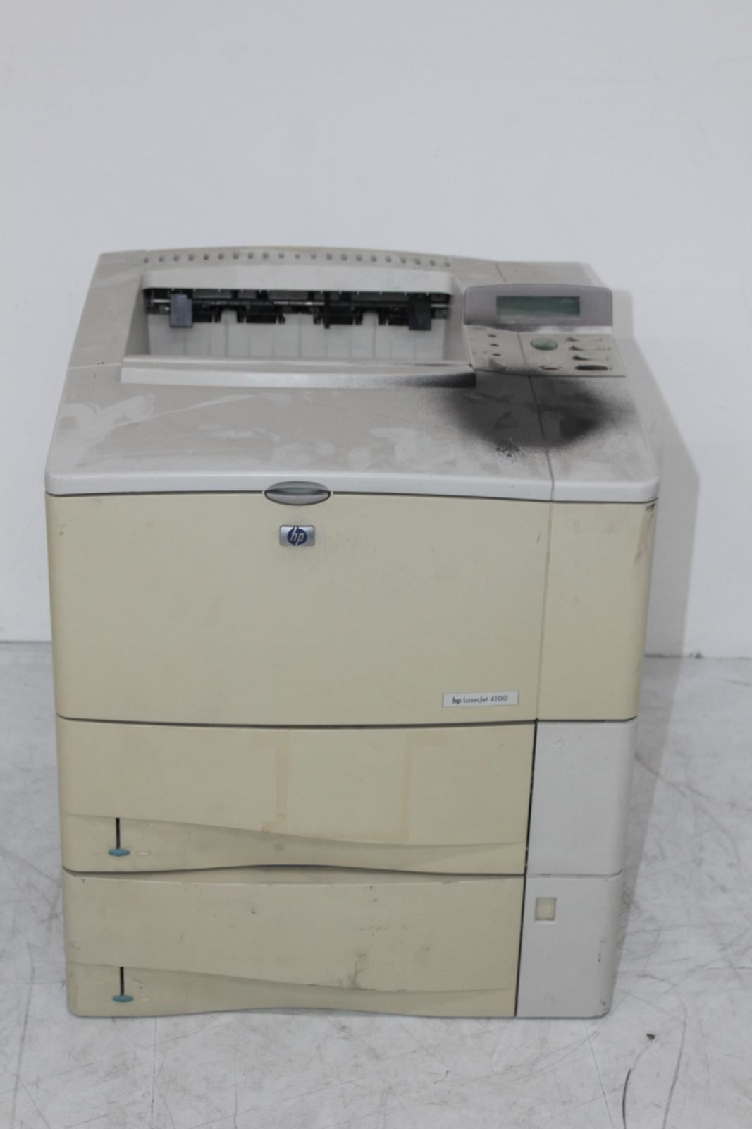 FAULTY-HP-LaserJet-4100-Series-Workgroup-Grey-Printer-For-Spares-Repairs
