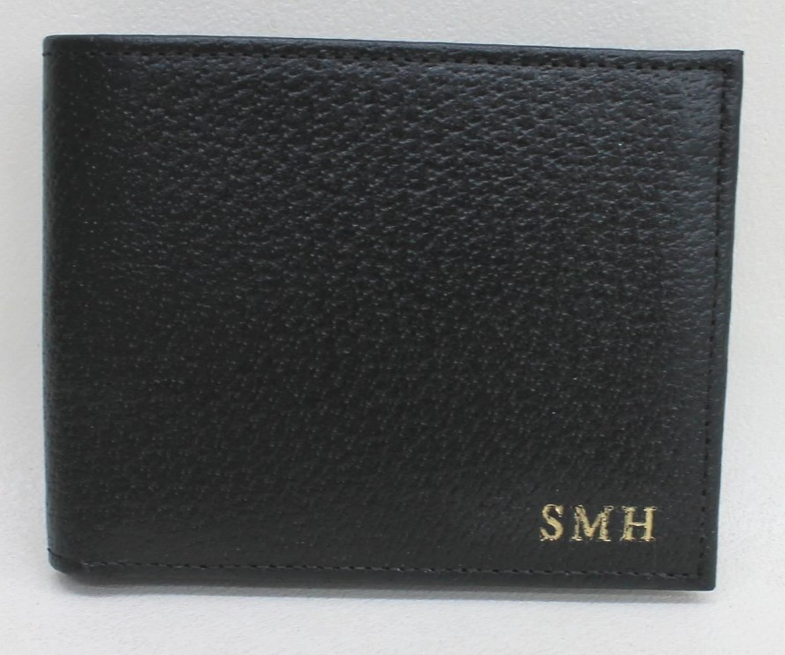ASPINAL-OF-LONDON-Men-039-s-Black-8-Card-Billfold-Leather-Wallet-Embossed-SMH-NEW