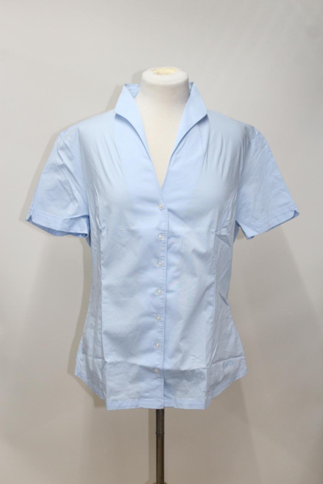 Cotton Starflower Shirt Uk18 Bnwt Collar Portrait Stretch Ladies Blue Dubarry Afax6OwqC