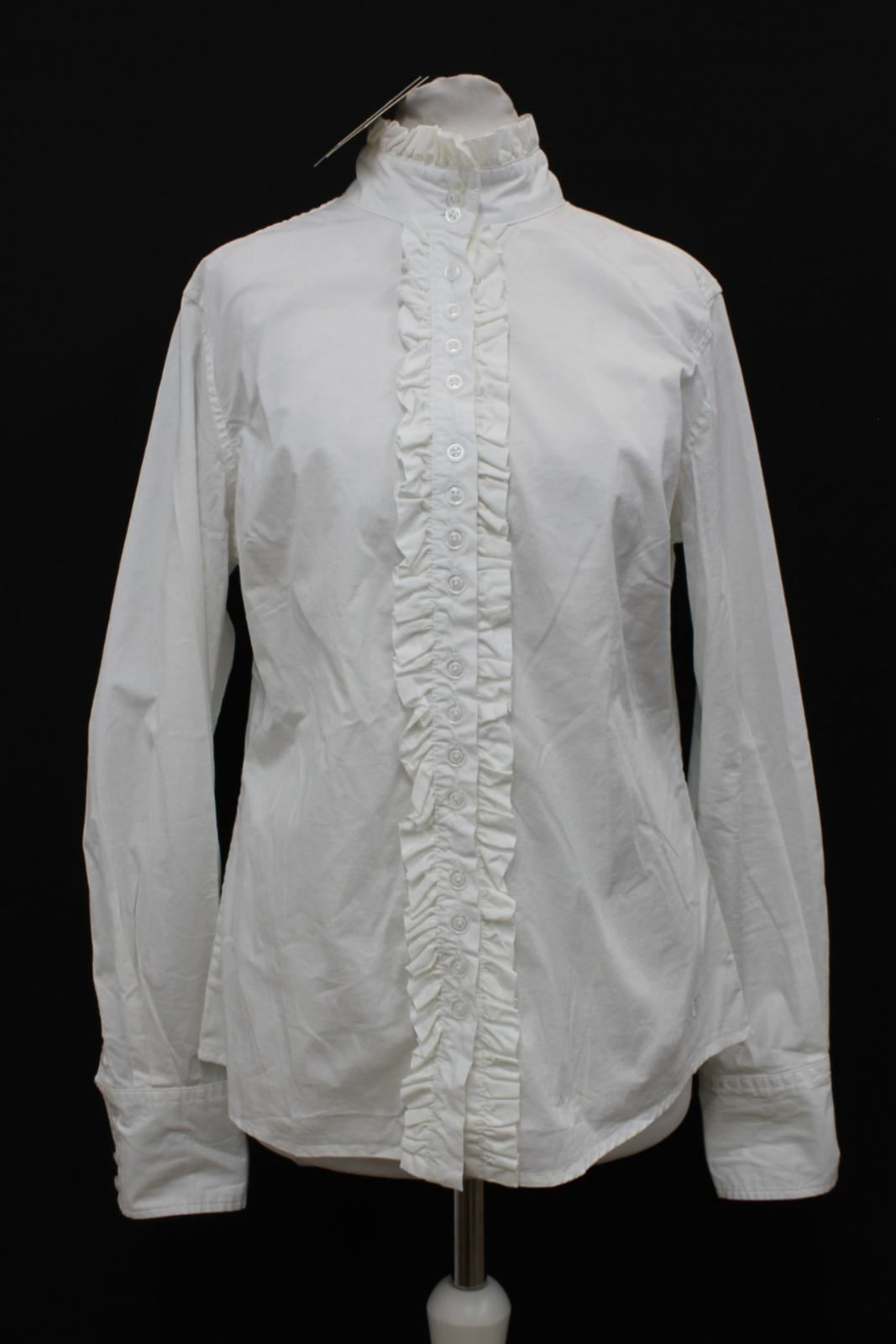 BNWT-DUBARRY-Ladies-Chamomile-White-Stretch-Cotton-Ruffle-Detail-Shirt-Size-UK12