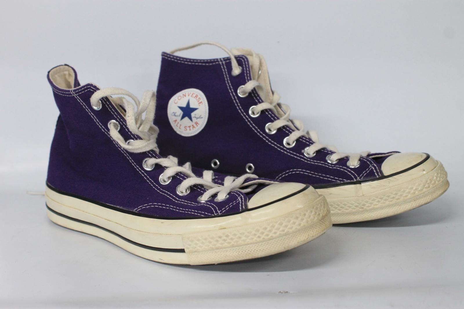 e68484a6015c CONVERSE All Star Chuck Taylor Men s Purple Canvas Lace-Up Hi-Top Trainers  UK9 nwswpl112-Men s Trainers