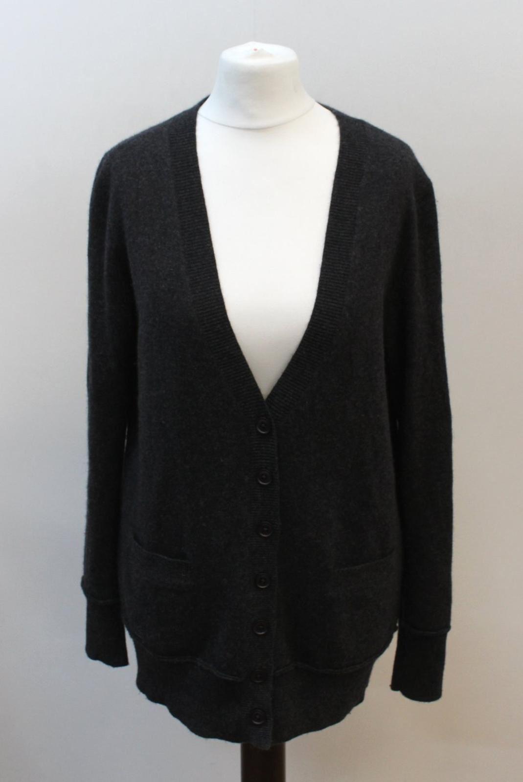 360-cashmere-femme-en-laine-melangee-gris-a-manches-longues-col-V-Tricot-Cardigan-S