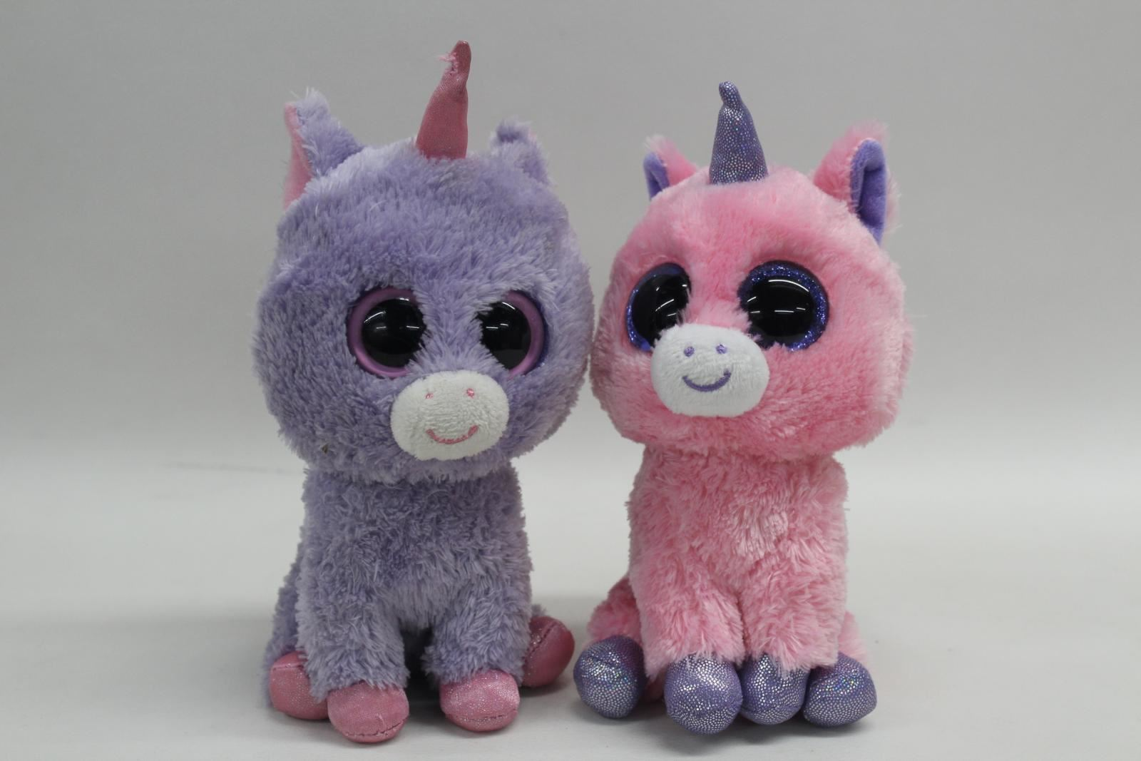 TY-Beanie-Boo-Unicorn-Purple-And-Pink-2011-2013-Collectible-Plush-Toys-6-034