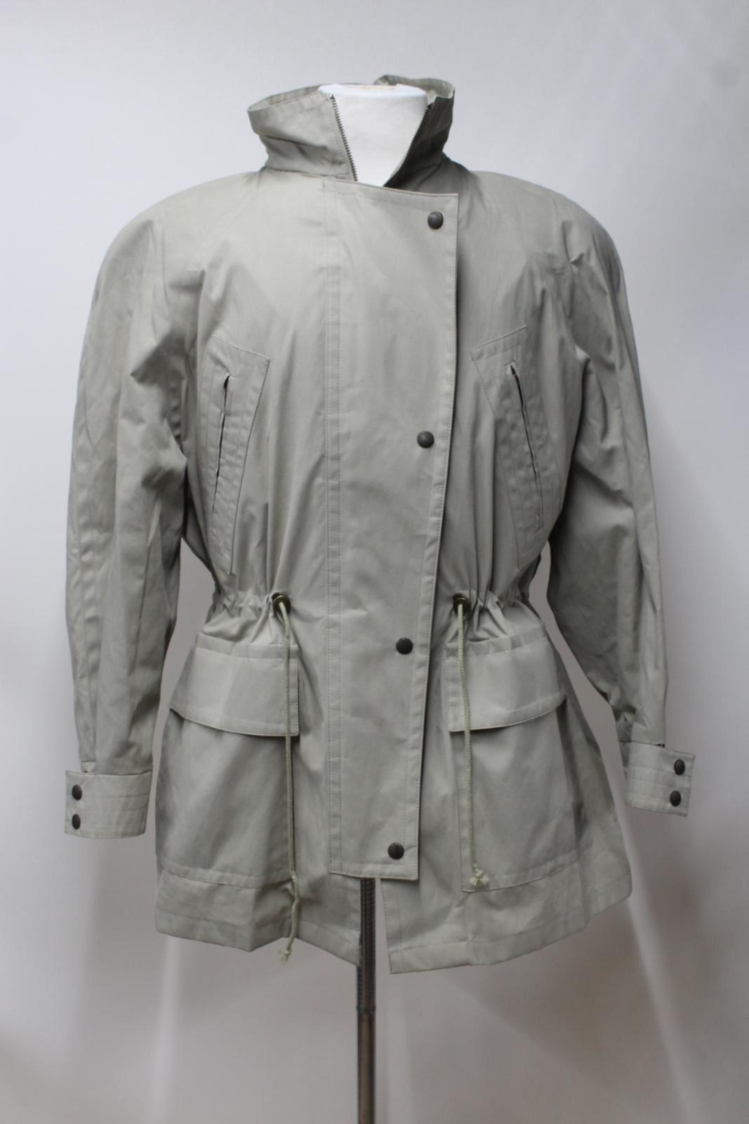 Cappotto con cappuccio M Jaeger collo leggero cappuccio vintage leggero a Parka Taglia beige da SZwnHd