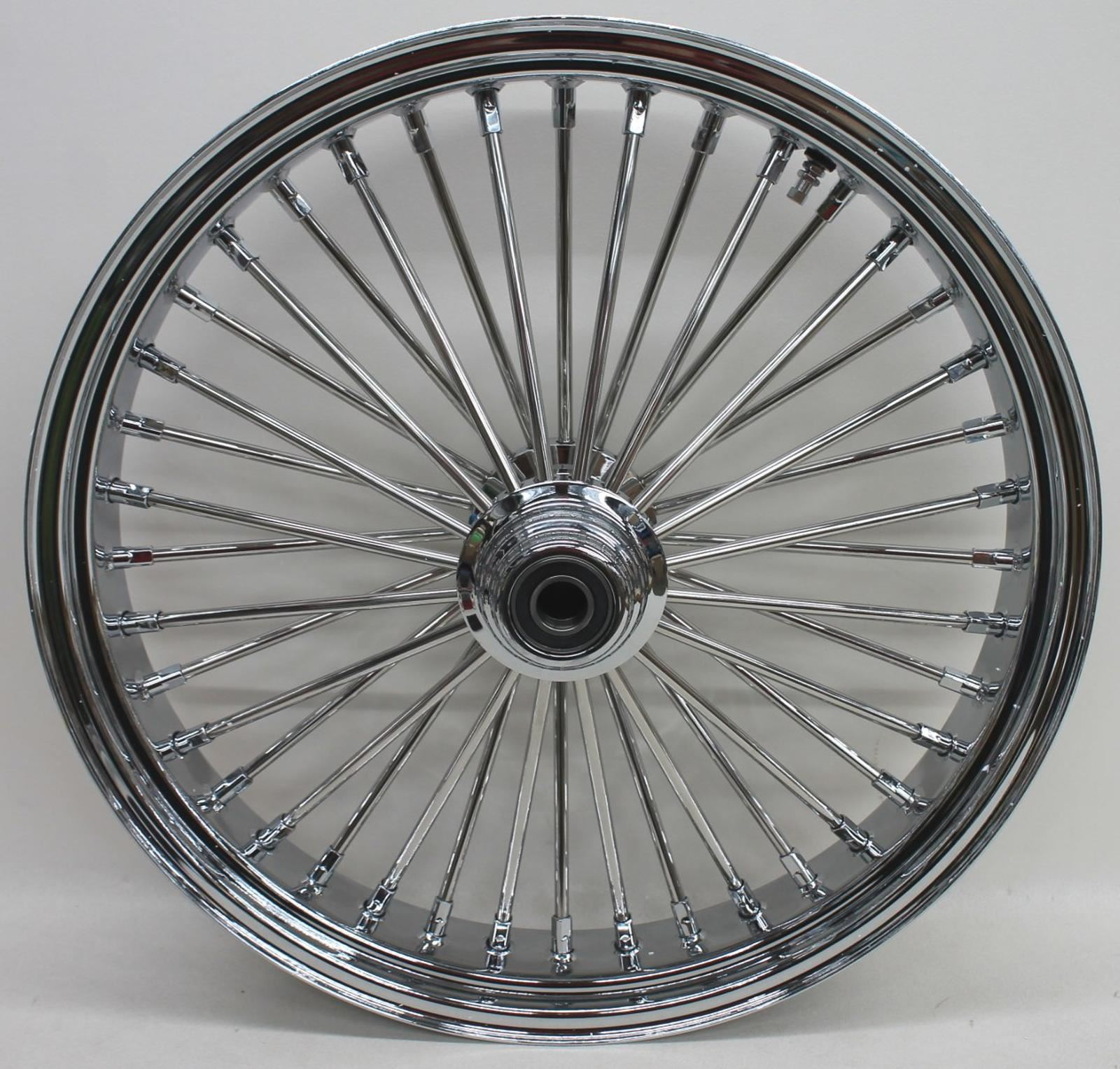 21x3.5 Fat Spoke Front Wheel For Harley Flt Touring Baggers 00-07 New