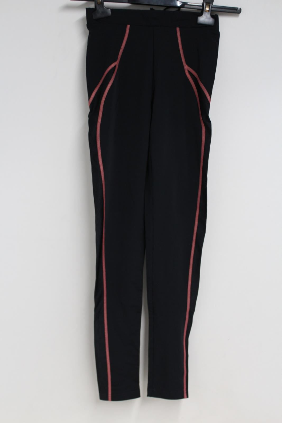 Sweaty-Betty-Senoras-Pantalones-Negros-Activewear-Ajustados-Leggings-Talla-XS-W24-L28
