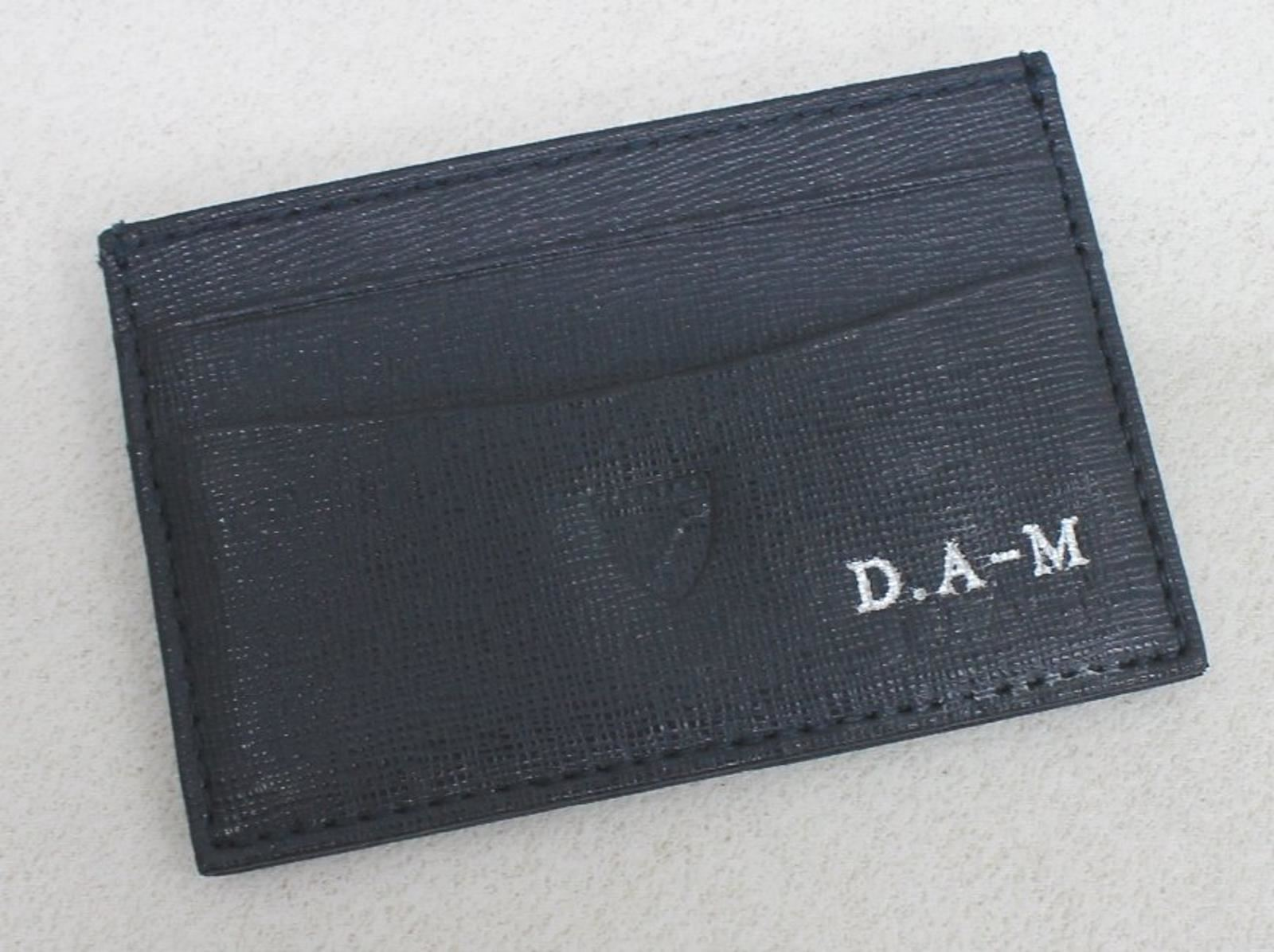ASPINAL-OF-LONDON-Men-039-s-Blue-Saffiano-Leather-Credit-Card-Case-Embossed-NEW