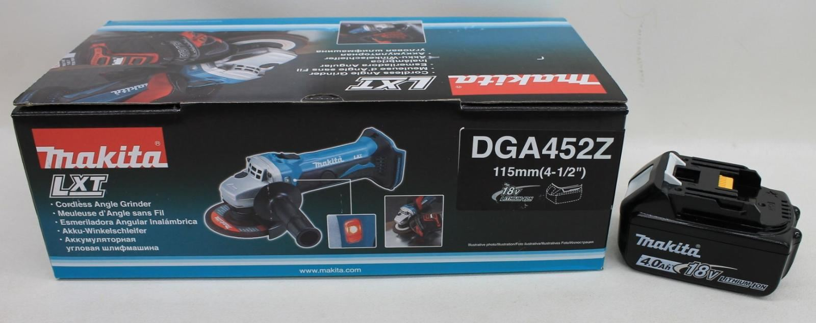 MAKITA-DGA452Z-18V-LXT-4-1-2-034-Cordless-Angle-Grinder-w-BL1840B-Battery-BNIB
