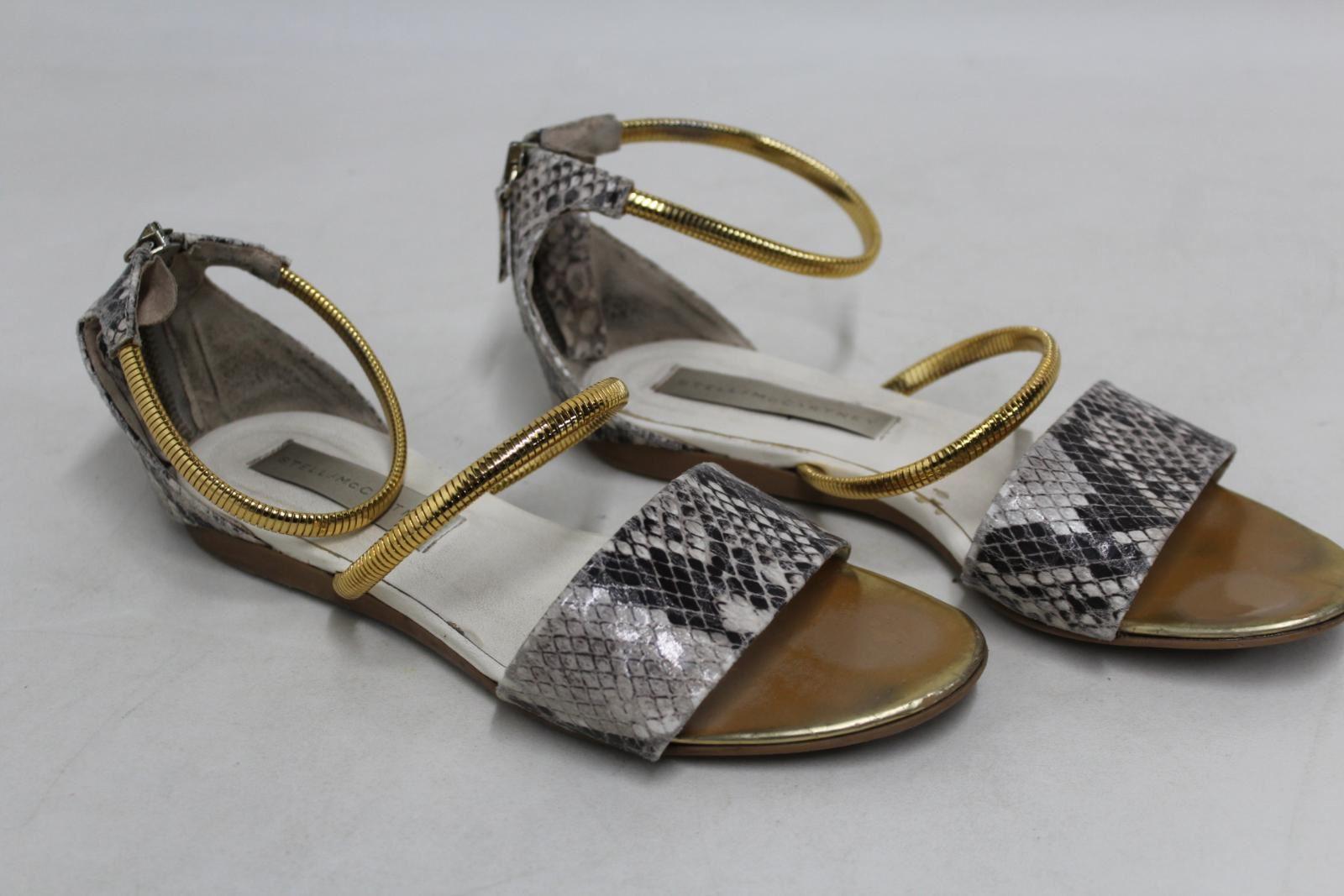 STELLA MCCARTNEY Ladies Faux Leather Snake Print Slingback Sandal shoes UK4 EU36