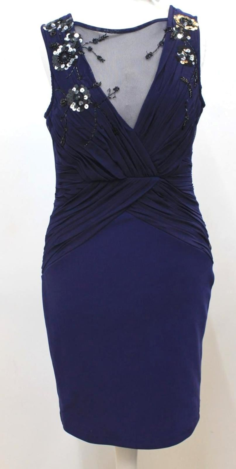 9f2f1ef4cc4 Image is loading LIPSY-LONDON-Ladies-Royal-Blue-Lace-Sequin-Sleeveless-