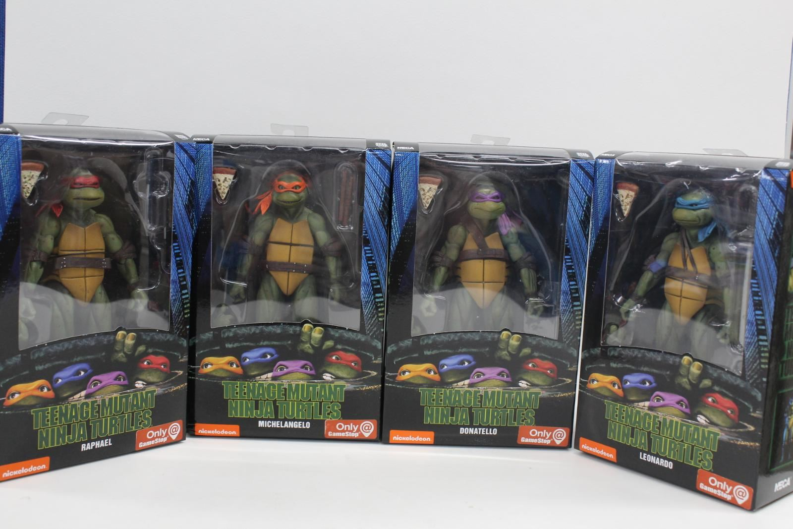 NECA Reel Toys Teenage Mutant Ninja Turtles Tmnt Figura De Acción Set 4 4 7  Nuevo