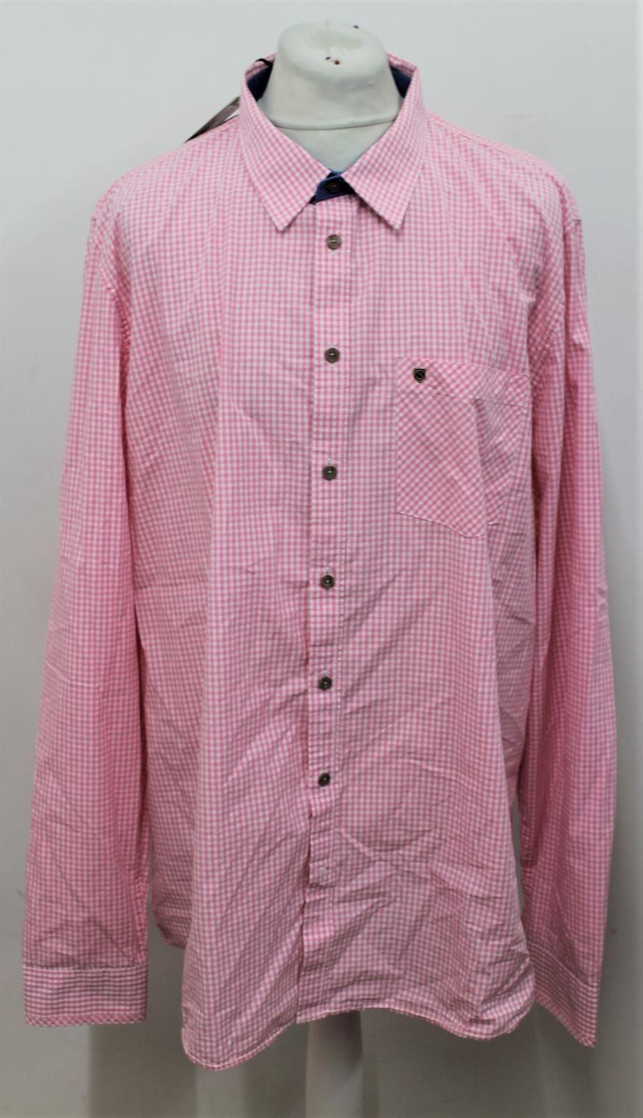 BNWT Dubarry uomo clonbrock rosa MANICA LUNGA PURO COTONE Check camicia taglia 3XL