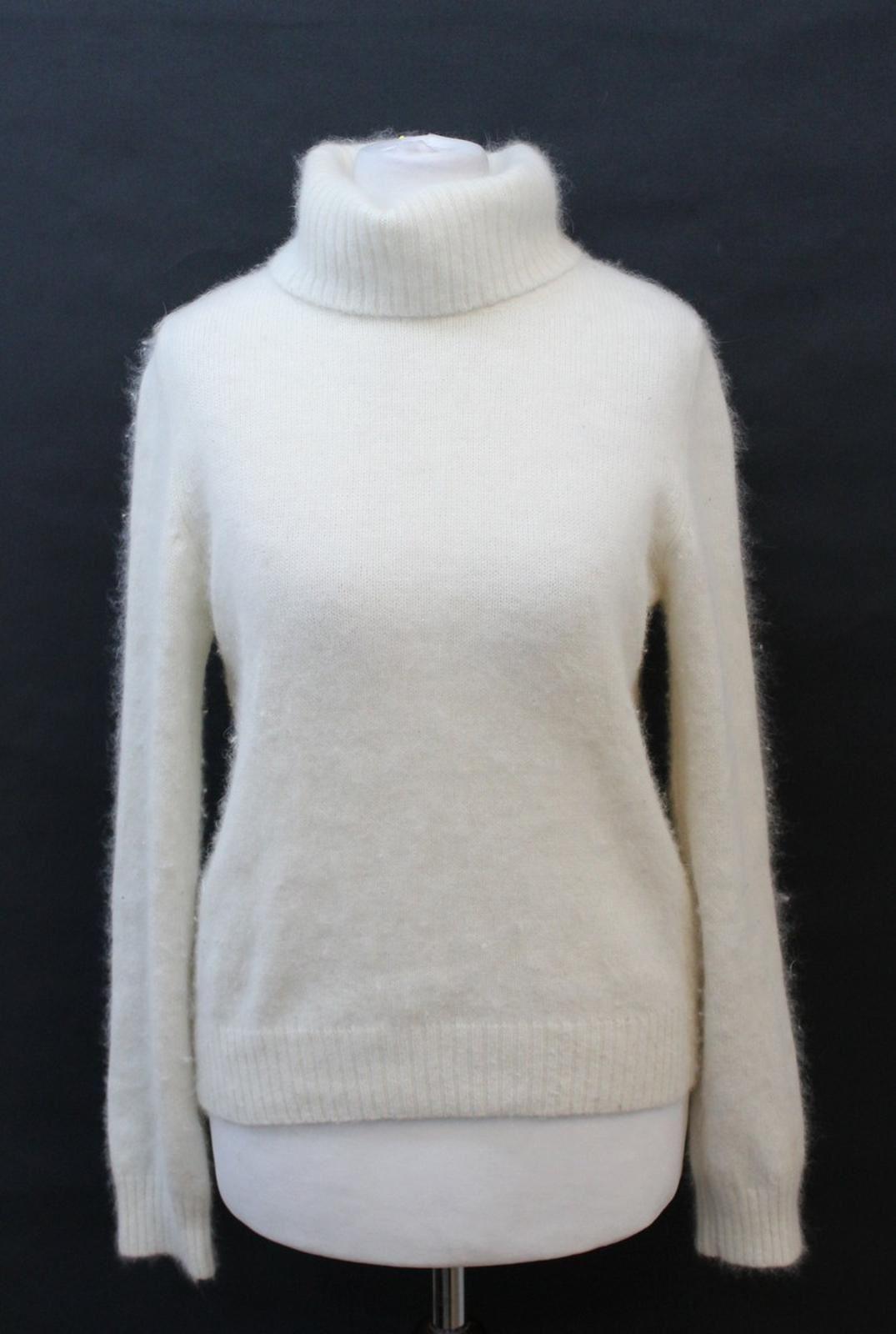 ST-MICHAEL-MARKS-amp-SPENCER-Ladies-Ivory-Wool-Blend-Knitwear-Jumper-UK8-EU36