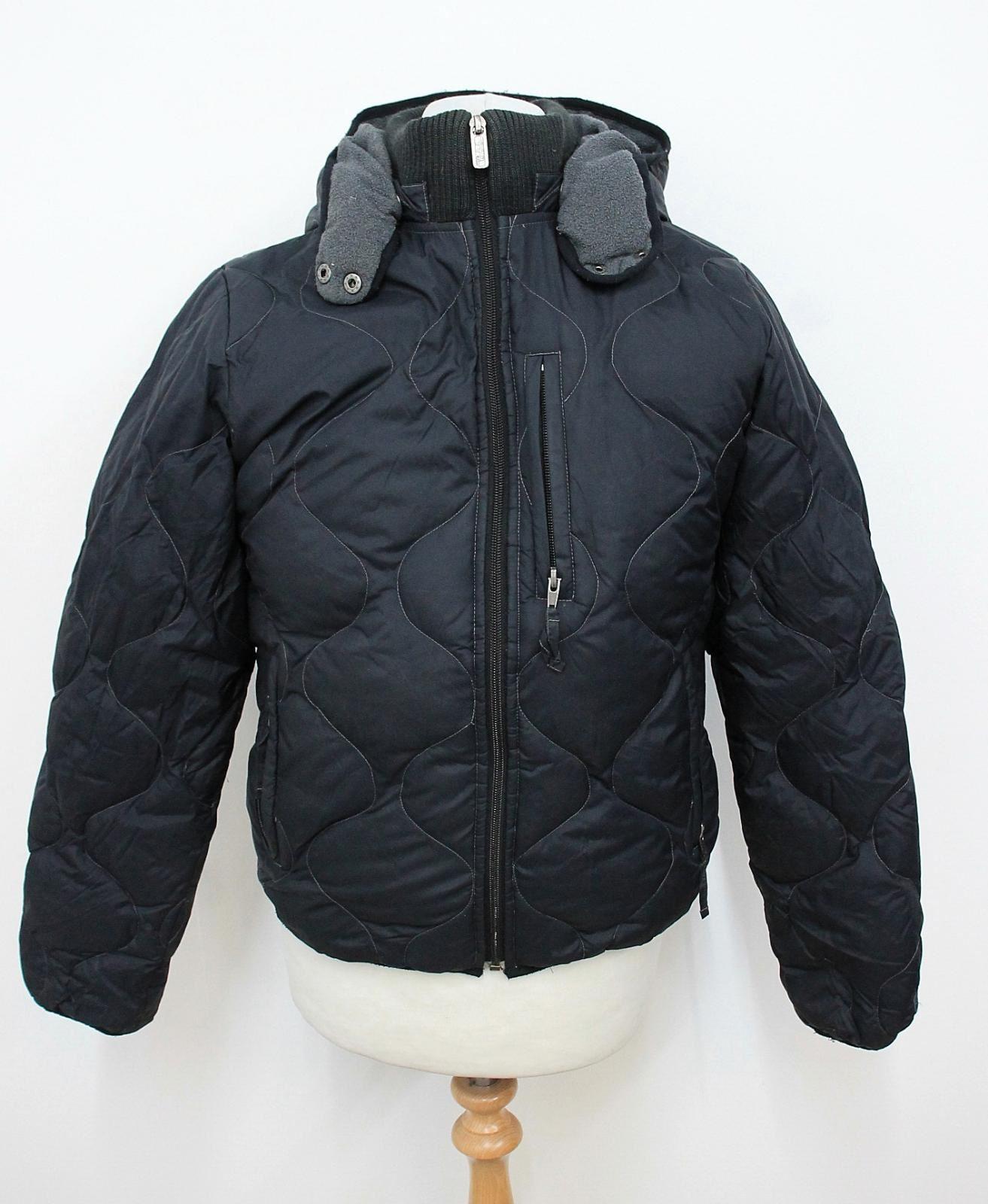 WOOLRICH-Men-039-s-Black-Long-Sleeved-Hooded-Neckline-Winter-Down-Jacket-Size-L