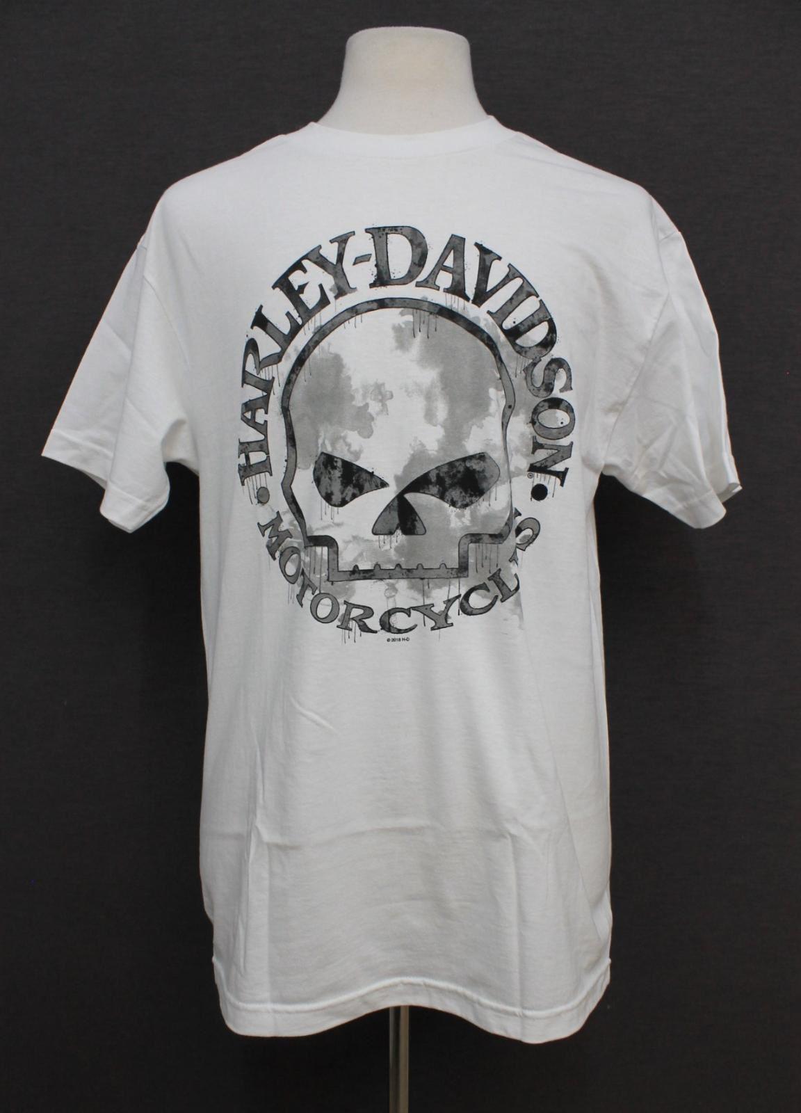 BRAVADO-Men-039-s-White-Cotton-Harley-Davidson-Graphic-Crew-Neck-T-Shirt-L-BNWT