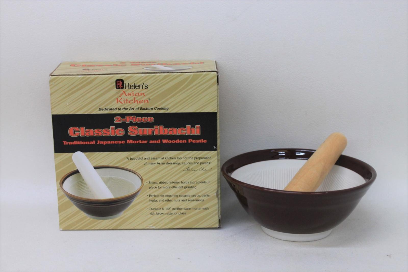 Helen S Asian Kitchen Japanese Traditional Classic Suribachi Mortar Pestle New Ebay
