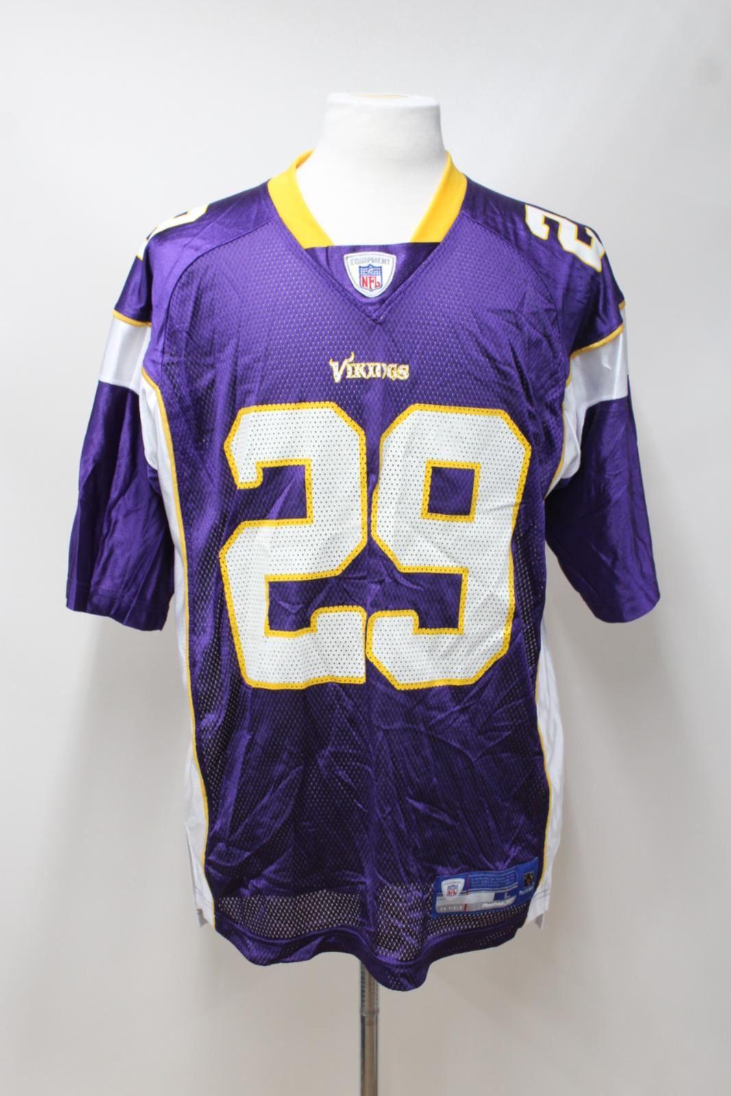 REEBOK NFL Men's Minnesota Vikings Chester Taylor 29 Short Sleeve Jersey Shirt L