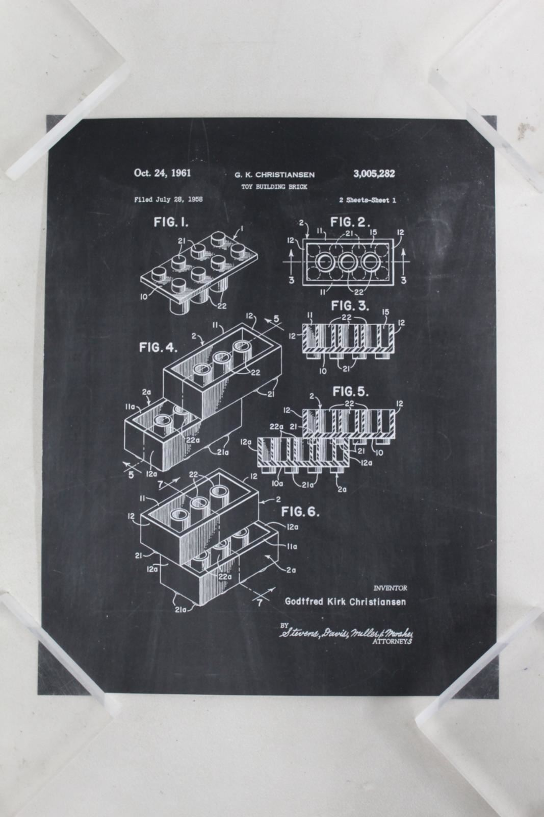 Toy-Building-Block-Lego-Patent-Chalkboard-Design-Poster-11x14-034-Quality-Print-NEW