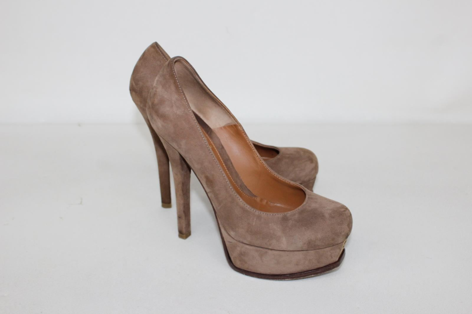 FENDI-Ladies-Platform-Brown-Suede-Stiletto-Heel-Pump-Court-Shoes-UK4-EU37