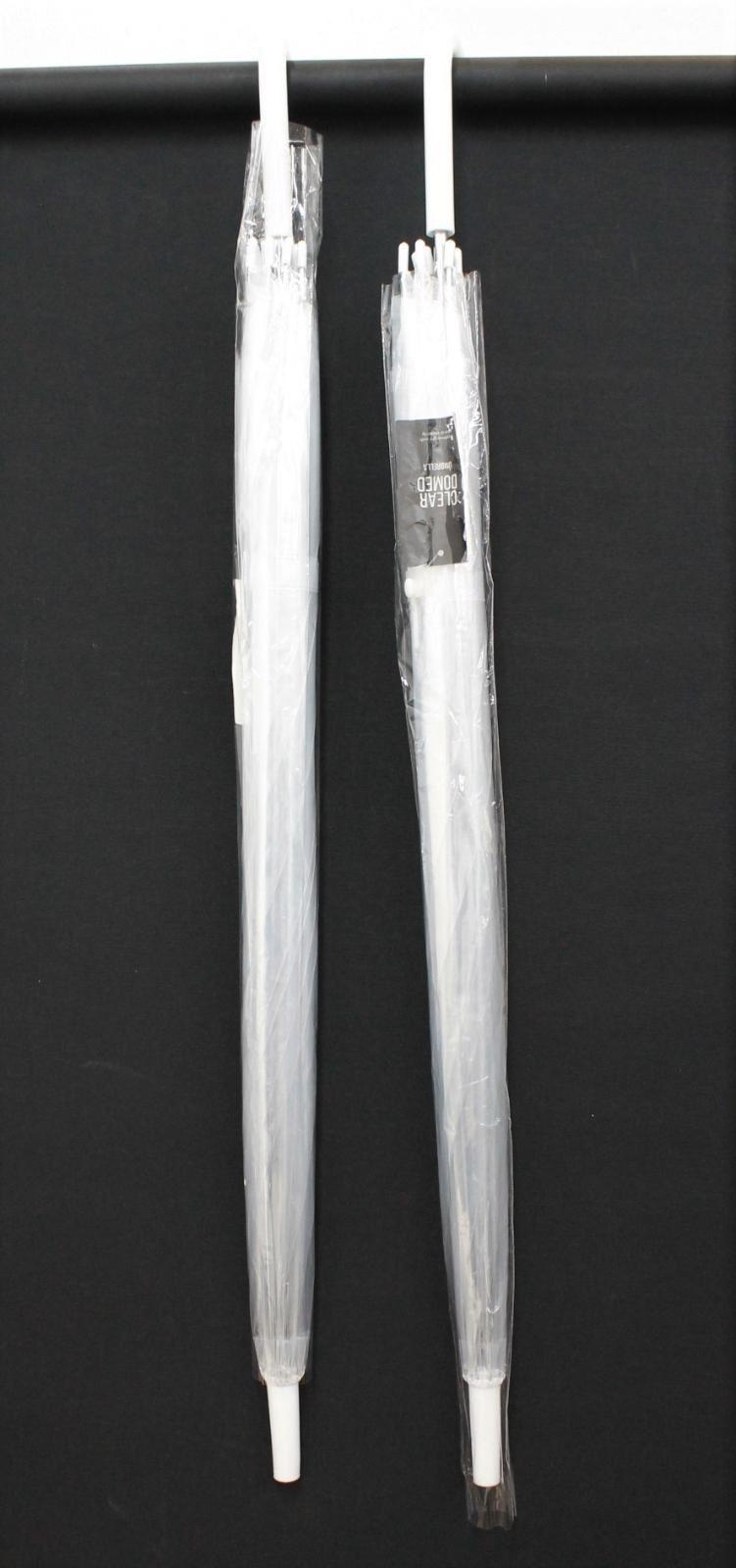 2 X Trasparente A Cupola Con Grande Cupola Trasparente Chiaro Ombrello Leggero Nuovo-mostra Il Titolo Originale Fissare I Prezzi In Base Alla Qualità Dei Prodotti
