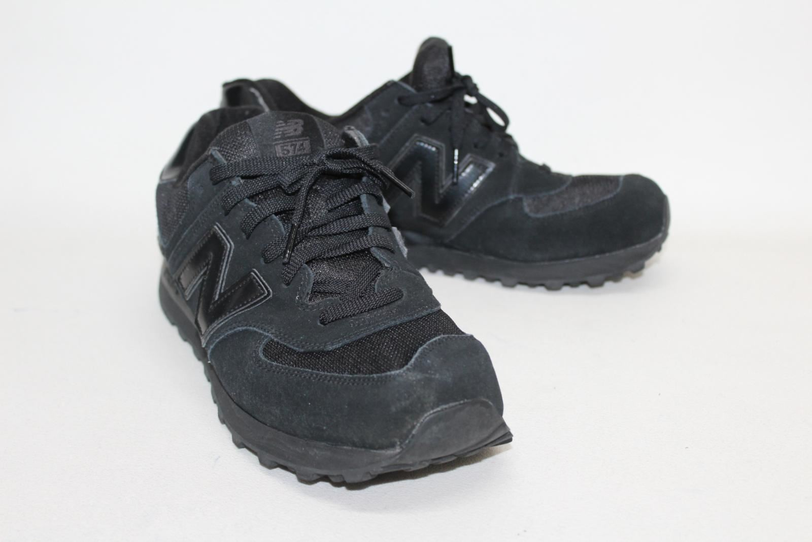 pretty nice 53f54 0edfd Details about BALANCE Men's Total Black 574 Trainers Training Running Shoes  UK10.5 EU44.5 NEW